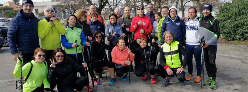 foto Nordic Walking, debutto per i Freedogs